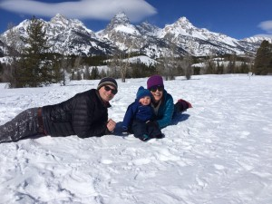 Matt with his children on a recent trip to Wyoming