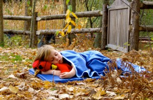 Nap time at the Chippewa Nature Preschool - Photo by Erin Soper