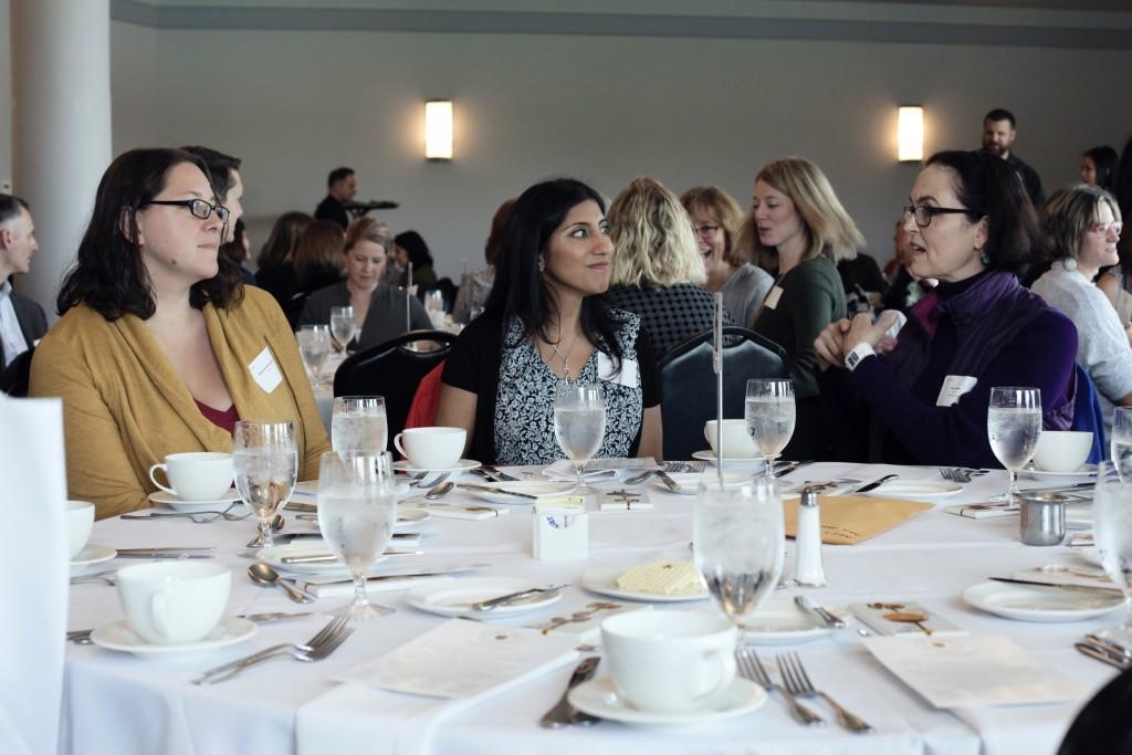 Dr. Pooja Tandon with Table Champion Sally Webb